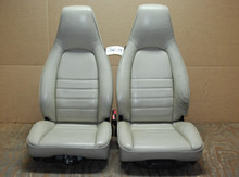Porsche 911 964 Carrera White Perforated Leather Seats 8x8 way power OEM