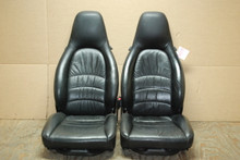 Porsche 911 993 Carrera Seats Black Supple Leather 12x12 way