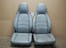 Porsche 911 993 Carrera Seats Light Greay Supple Leather 8x8 way OEM