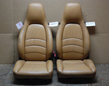 Porsche 911 993 Carrera Seats Tan Supple Leather 8x8 way OEM