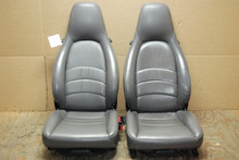 Porsche 911 993 Carrera Seats Grey Supple Leather 8x8 way OEM