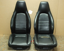 Porsche 911 964 Carrera Black Leather Seats OEM