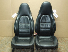 Porsche 911 996 Carrera Seats Black Supple Leather OEM