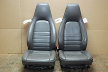 Porsche 911 964 Carrera Grey Perforated Leather Seats OEM