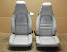 Porsche 911 964 Carrera Seats White Leather 4x8 way power OEM