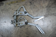 Porsche 911 65-89 Targa Cabriolet Window Regulator Pair Left Right w/ Motors