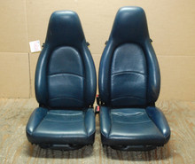 Porsche 911 993 Carrera Seats Blue Perforated Leather 8x8 way power