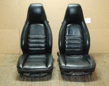 Porsche 911 964 Carrera Seats Black Leather 8x8 way power OEM