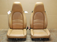 Porsche 911 993  Carrera Seats Tan Leather 8x12 way power OEM