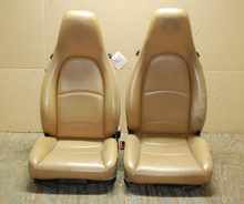 Porsche 911 993 Carrera Seats Tan Perforated Leather 4x4 way power OEM