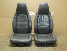 Porsche 911 993 Carrera Seats Grey Supple Leather 8x12 way power OEM