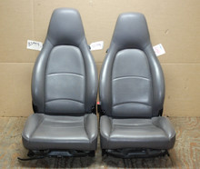Porsche 911 993 Carrera Seats Grey Perforated Leather 8x8 way power OEM.