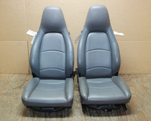 Porsche 911 993 Carrera Seats Grey Perforated Leather 8x8 way power. OEM