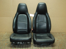 Porsche 911 993 Carrera Seats Black Perforated Leather 12x12 way power, Factory OEM