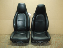 Porsche 911 993 Carrera Seats Black Perforated Leather 8x8 way power Factory OEM