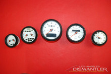 Porsche 911 993 Turbo S Gauge Cluster Set White Face Leather Trim OEM *RARE*