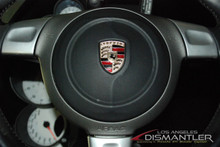 Details about  Porsche 911 997 Carrera S Black Steering Wheel Airbag 3-Spoke OEM 997.803.089.17
