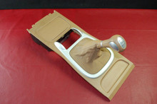 Details about  Porsche 955 Cayenne Tan Center Console Shifter trim w/ Manual shift Knob Boot