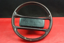 Porsche 911 930 964 Carrera Classic Steering Wheel 4 Spoke Brown Leather OEM.