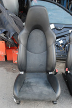 Porsche 911 997 GT3 Black Alcantara Sport Seats Left Right Pair w/Crest OEM RARE