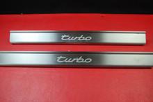 Porsche 911 996 Turbo Aluminum Scuff Plate Door Sill Trim Interior L R