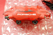 Porsche 964 965 911 Turbo Brembo Rear Brake Calipers Left Right RED