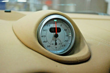 Porsche 987 Cayman Boxster Sport Chrono Time Clock with Dash Pod TAN SILVER