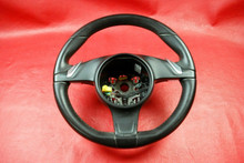 Porsche 991 911 981 Boxster Cayman PDK Steering Wheel Black Leather Carrera