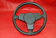 911 930 Porsche 3 Spoke Leather Steering Wheel Fatty Grip 1974-1984 OEM RARE
