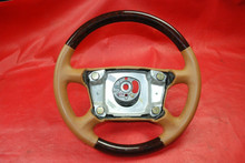 Porsche 911 993 996 Tan Steering Wheel Leather with Wood Trim