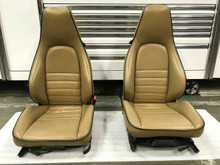 Original RARE Porsche 911 964 965 Carrera Turbo RECARO Sport Seats Tan Blue