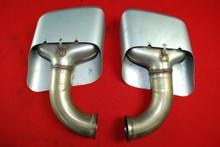 Porsche 958 Cayenne 2011-14 Left Right Pair Exhaust Muffler Tips 7P5.253.682681