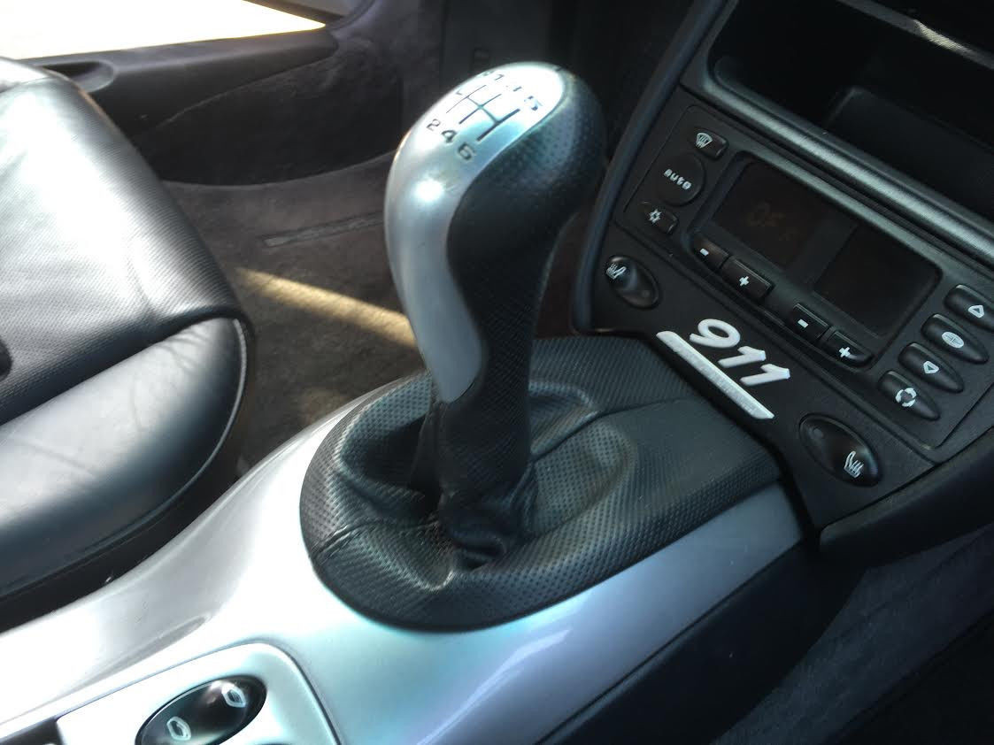 Porsche 911 996 40th AE 6 speed Shift Knob Dark Gray Perforated Shifter six  S