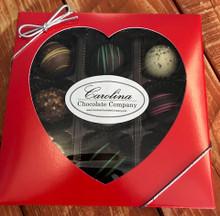9 Piece Truffle Assortment w/ Heart Box (Seasonal)