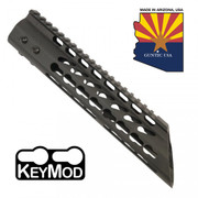 "Guntec 10"" Ultra Lightweight Thin Keymod Free Float Handguard w/ Slant Nose"