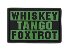 Condor Whiskey Tango Foxtrot PVC Patch