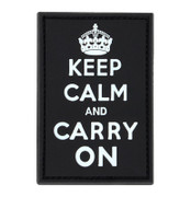 Condor Keep Calm and Carry On PVC Patch