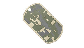 Military Grade Dog Tag 2 Pk Set - ACU