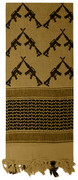 Lightweight Shemagh Tactical Scarf - Coyote/Guns