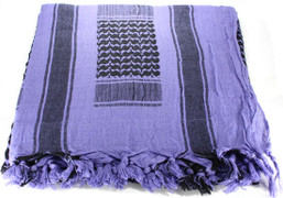 Lightweight Shemagh Tactical Scarf - Purple/Black