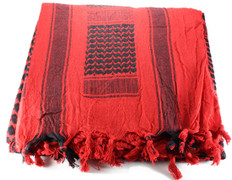 Lightweight Shemagh Tactical Scarf - Red/Black