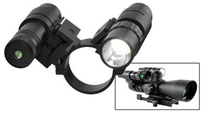 SALE! NcSTAR ASFLG34 Scope Adapter with Flashlight and Green Laser