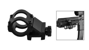 "NcSTAR 1"" Offset Mount for 1"" Flashlight or Laser - Weaver/Picatinny Mount"