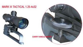 SALE! NcSTAR Sniper 1.25-4x32 Range Scope - Carry Handle