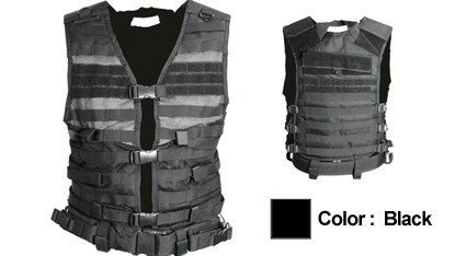 b2c731f653 NcSTAR Molle/Pals Vest (cpv2915b) - Black - ROCKSTAR Tactical Systems