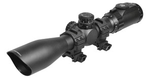 UTG 1.5-6X44 30mm Scope w/ 36-color Mil-dot/ QD Rings