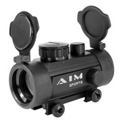 Aim Sports 1X30 Reflex Red Dot Sight W/ Flip Up Lens Covers