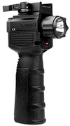NcSTAR VISM Vertical Grip w/LED Flashlight/Red Laser
