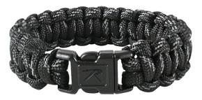 SALE! Rothco Black w/ Reflective Paracord Bracelet