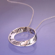 Let Go And Let God Sterling Silver Necklace